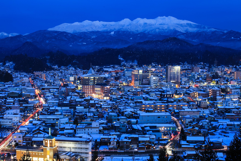 夜の高山市俯瞰