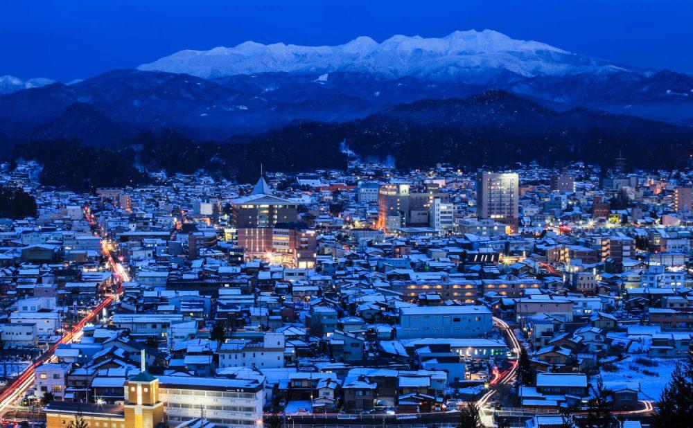 飛騨高山の夜俯瞰