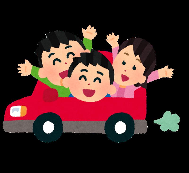 車に乗る人々