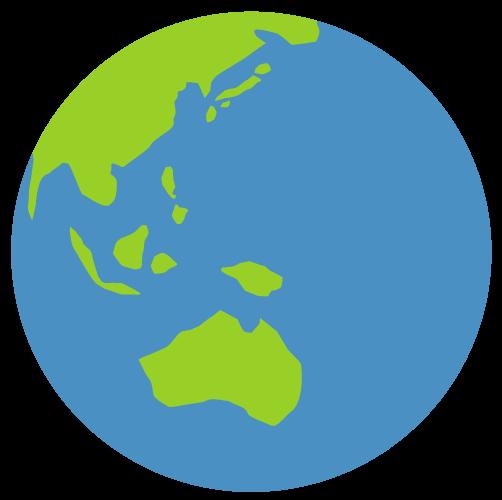 地球アイコン青緑